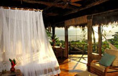 Sunrise in beautiful Lapa Rios Eco-Lodge Room