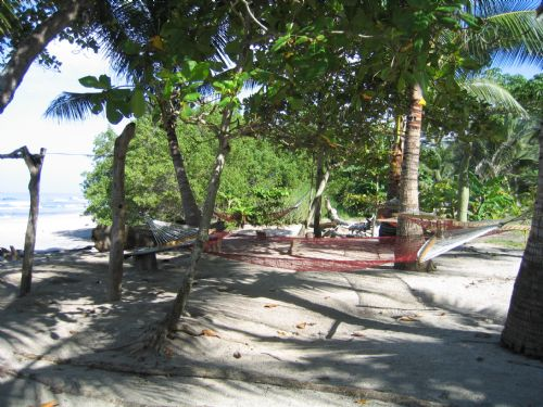 Hammocks on Mal Pais Beach