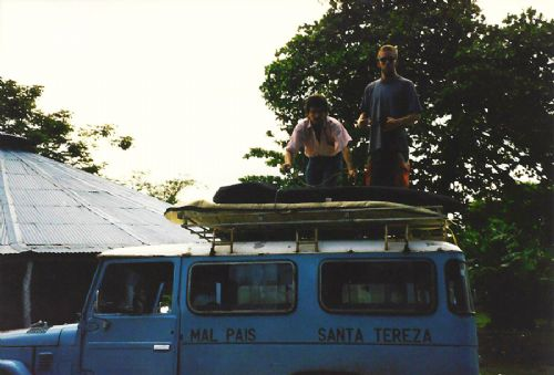 Old taxi from Cobono to Mal Pais & Santa Teresa