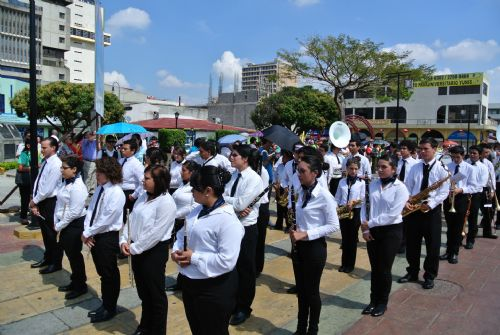 San Jose band in procession of Holy Week