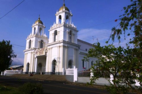 Side view of Santo Domingo church, Heredia