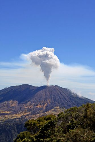 Turrialba Volcano Erupting in 2010
