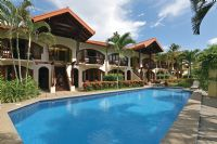 Apartotel Girasol building and pool, Jaco