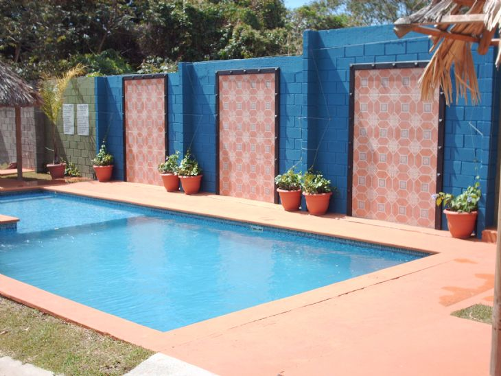 Newly decorated pool at Casa Mana