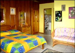 Small Cabin Bedroom at Posada Mimosa