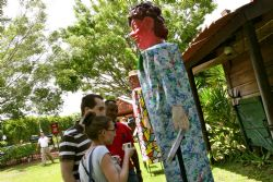 Exhibition of giant puppets of Costa Rican folklore