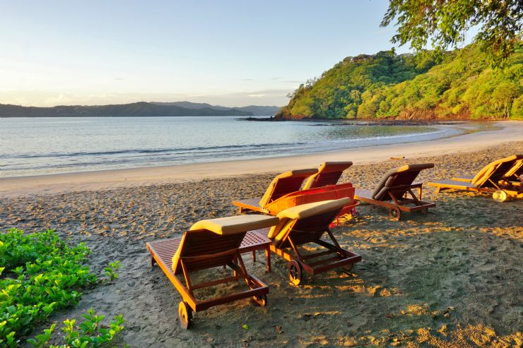 Relaxing on the beach in Guanacaste
