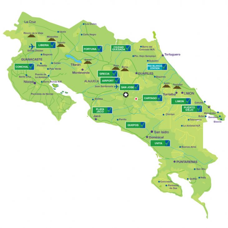Adobe Costa Rica Map